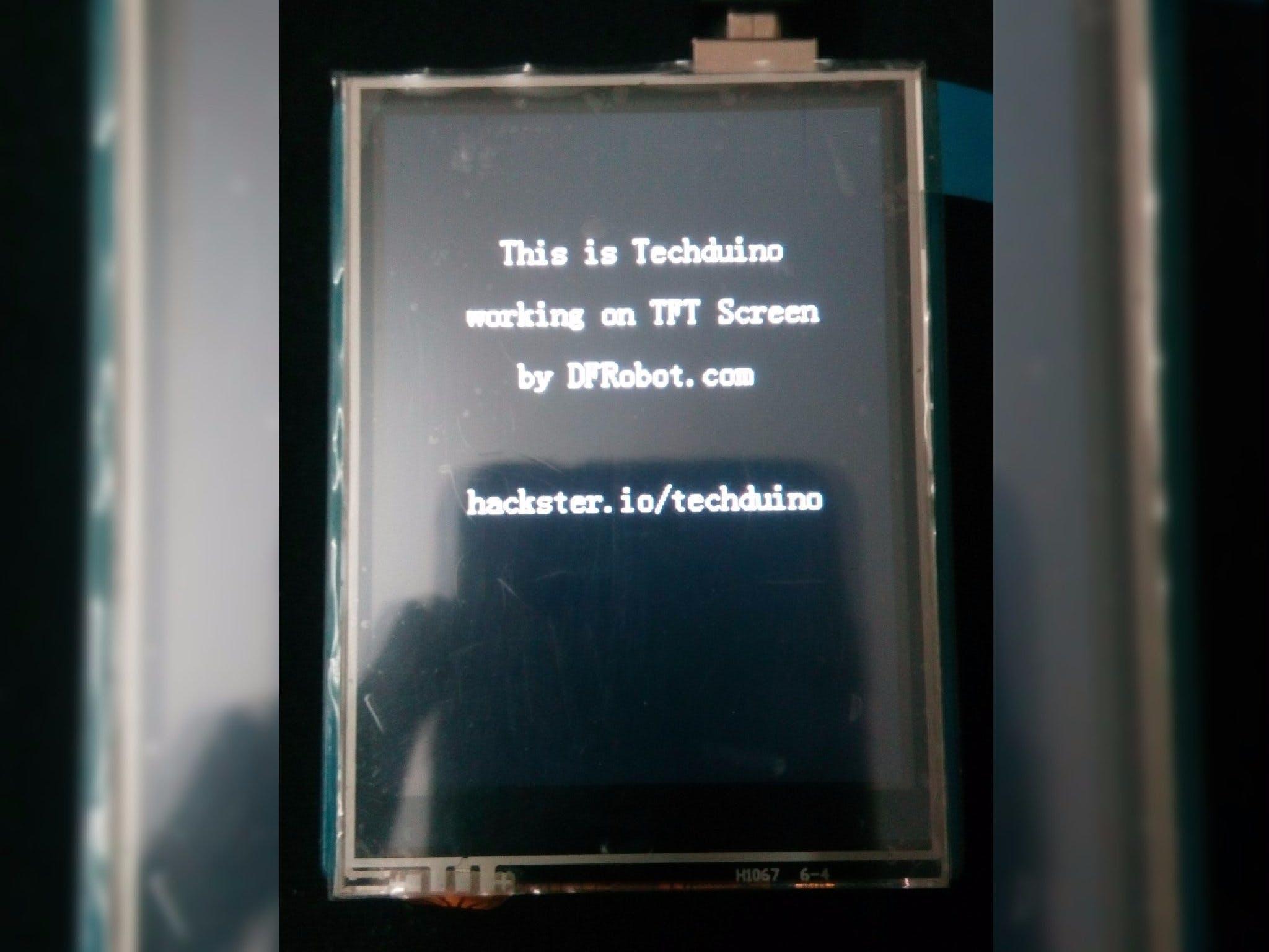 "2.8/"" TFT Touch Shield per Arduino con Touchscreen"