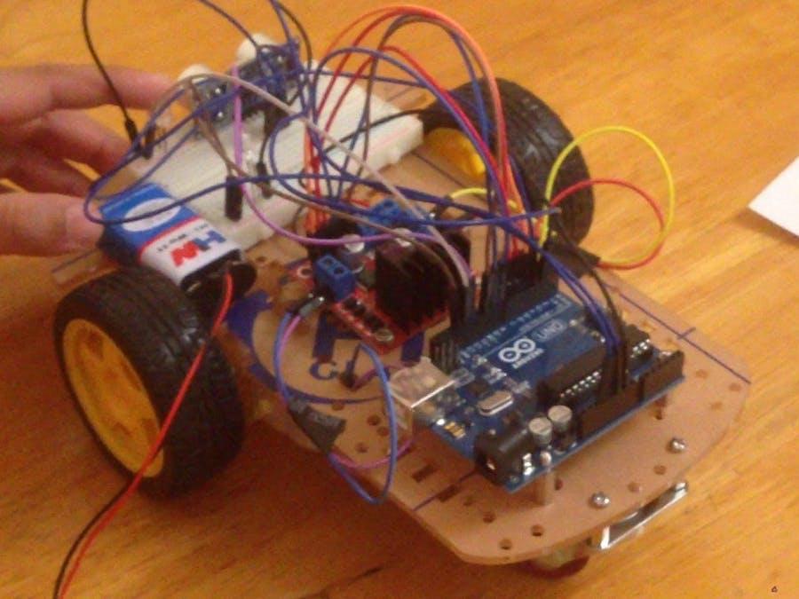 Obstale Avoiding Robot  Using l298d