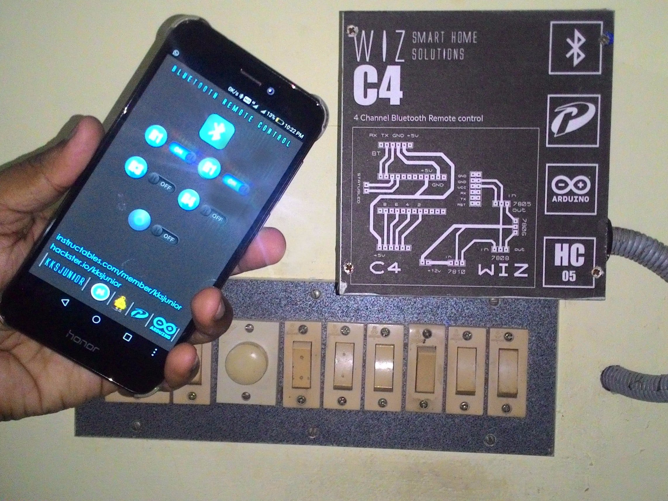 Simple Home Automation Using Bluetooth, Android and Arduino