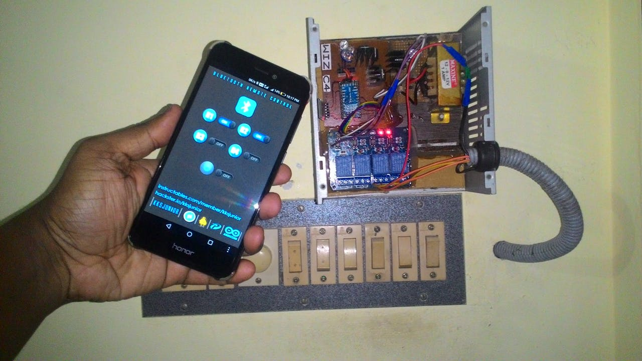 Simple Home Automation Using Bluetooth Android And Arduino Controlled Electronic Appliances Block Diagram
