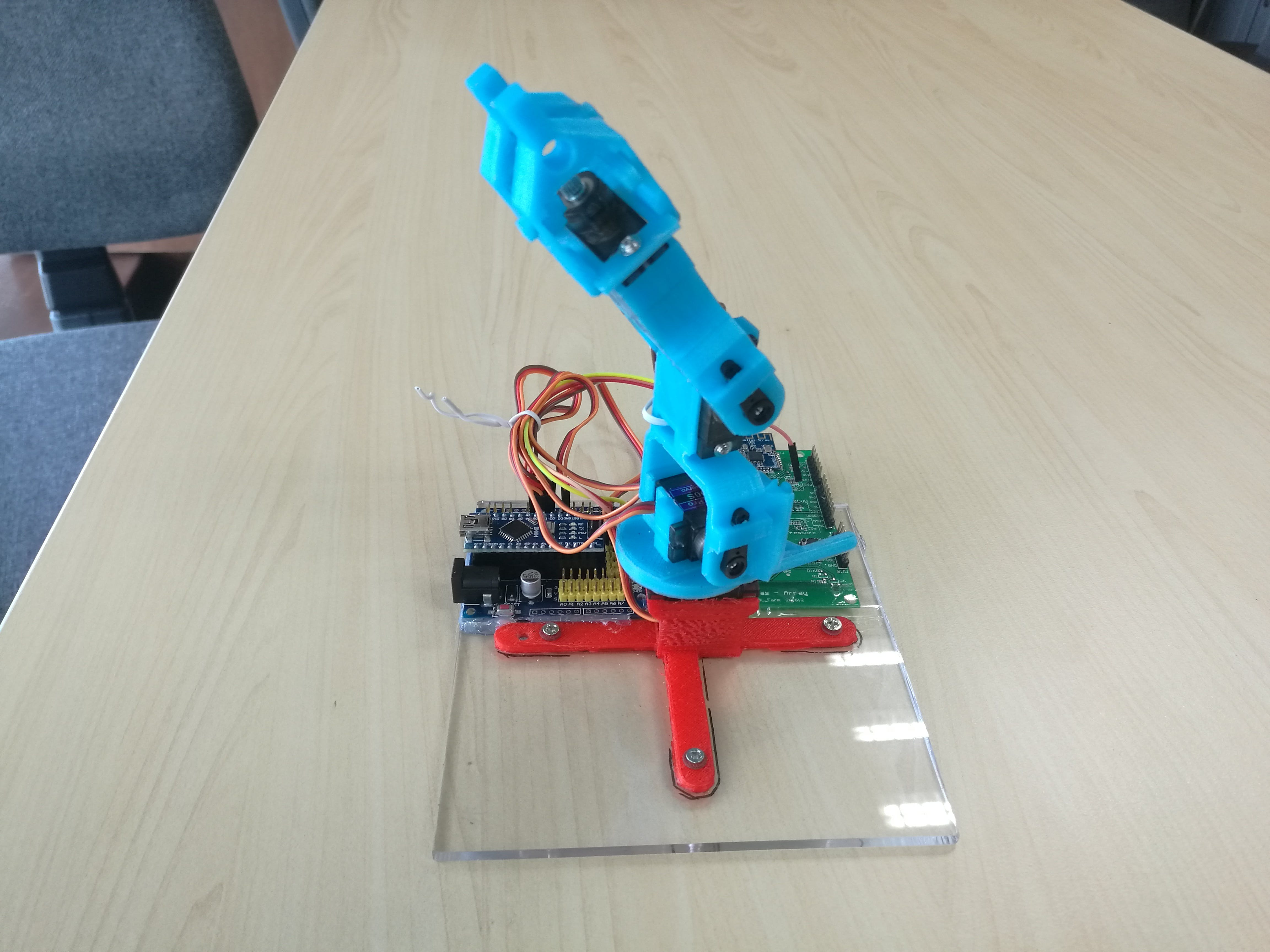 Gesture Controlled Robotic Arm
