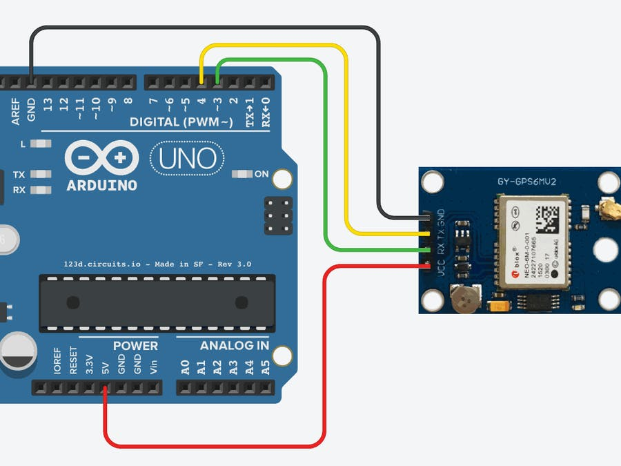 How To Interface Gps Module Neo 6m With Arduino 8f90ad on hardware setup diagram
