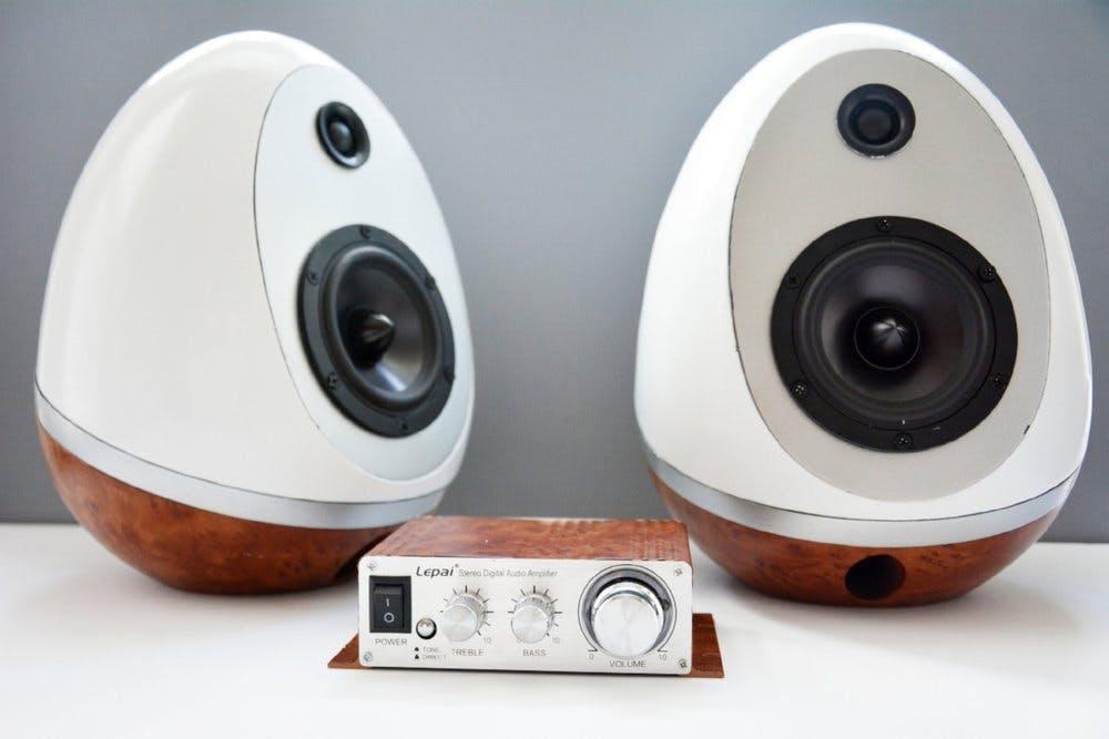 3D Printed Speaker Eggs Build
