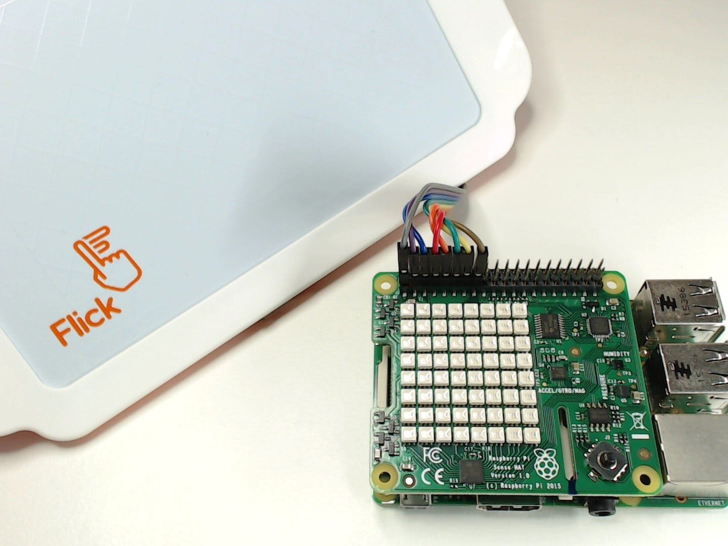 Control your Raspberry Pi Sense HAT using gestures with F...