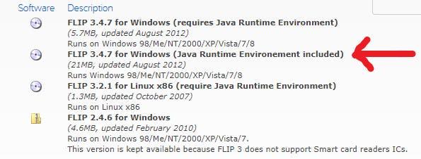 Fig: Download FlipSoftware