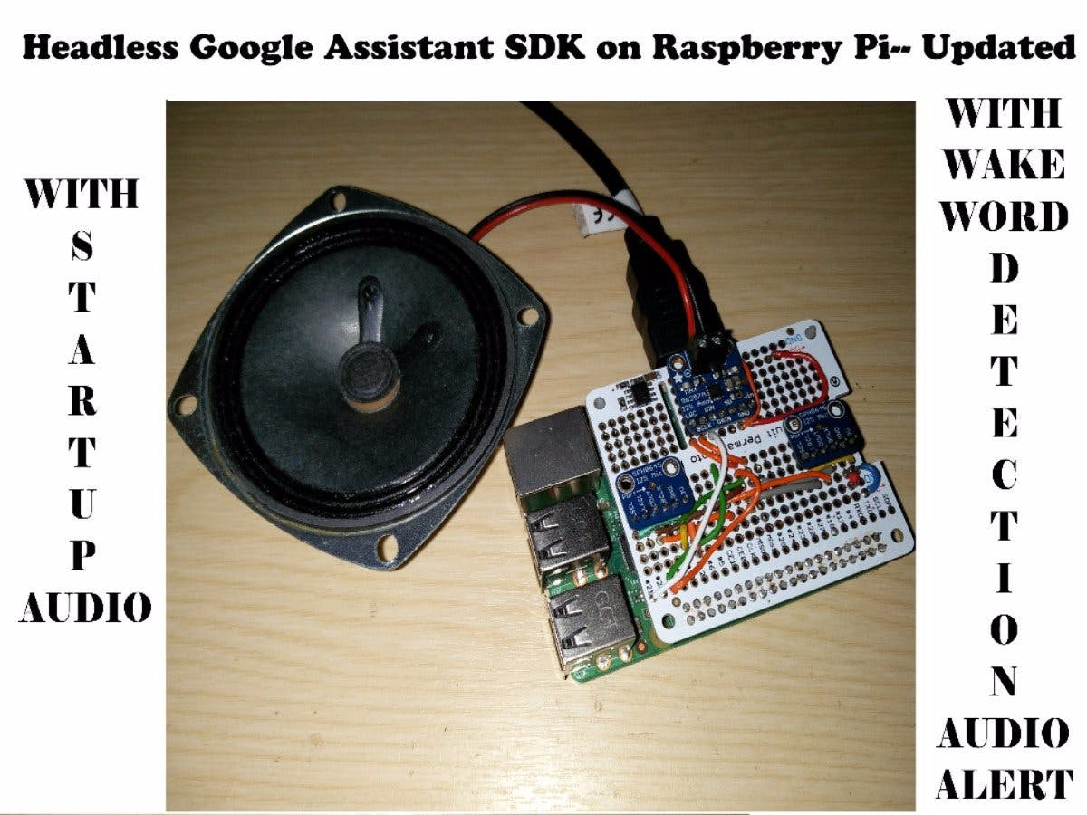 Headless Google Assistant with Startup Audio