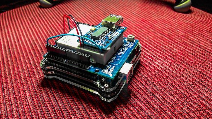 Arduino 101 with Hobbytronics USB MIDI Host (back)