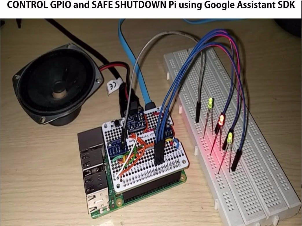 Safe Shutdown, Control Pi GPIOs Using Google Assistant SDK