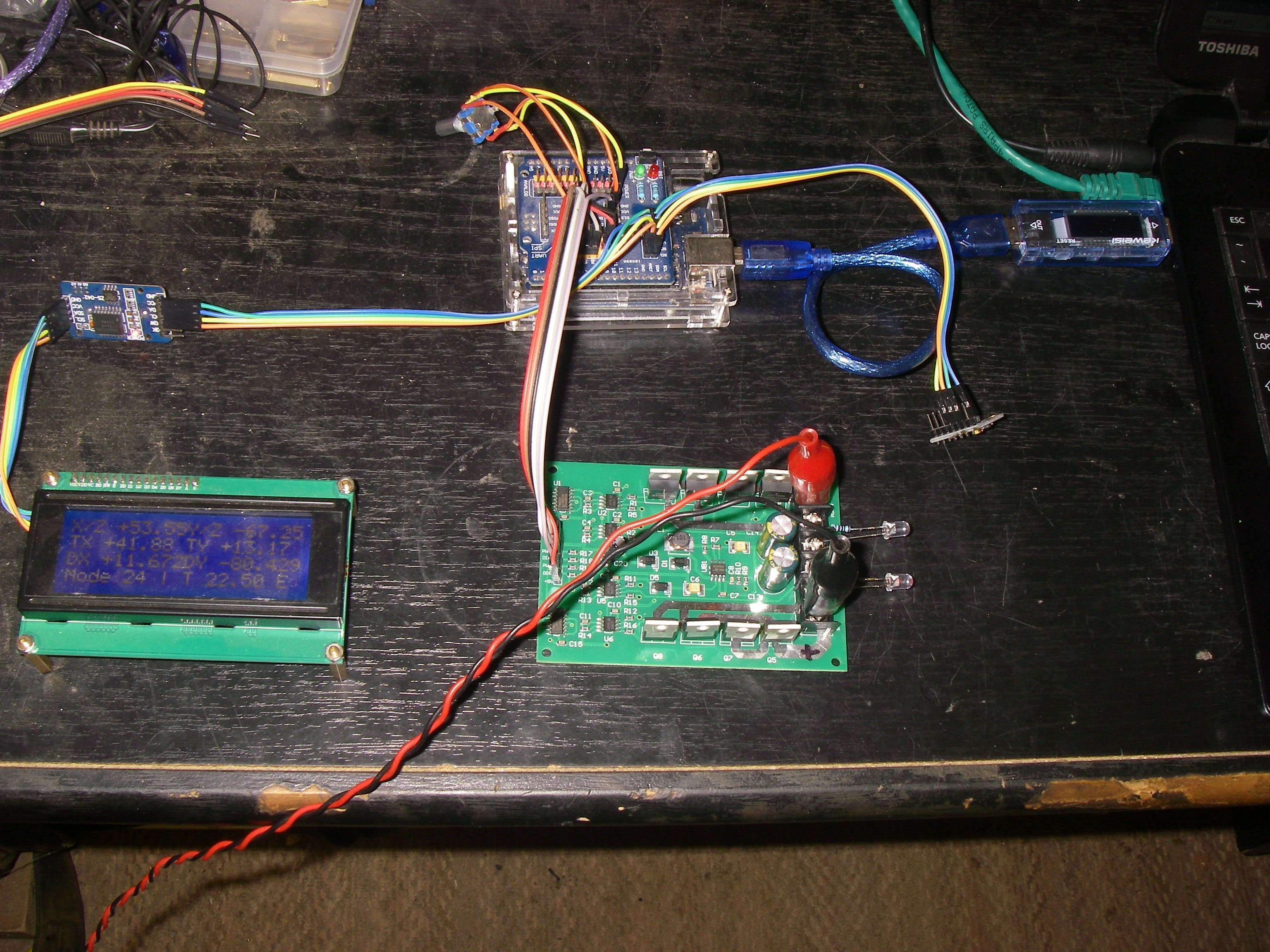 Another tracker built to test the new H switch drive board