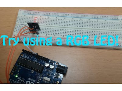 Try Using an RGB LED
