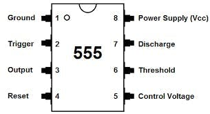 Labelled Layout of the NE 555 Integrated Circuit