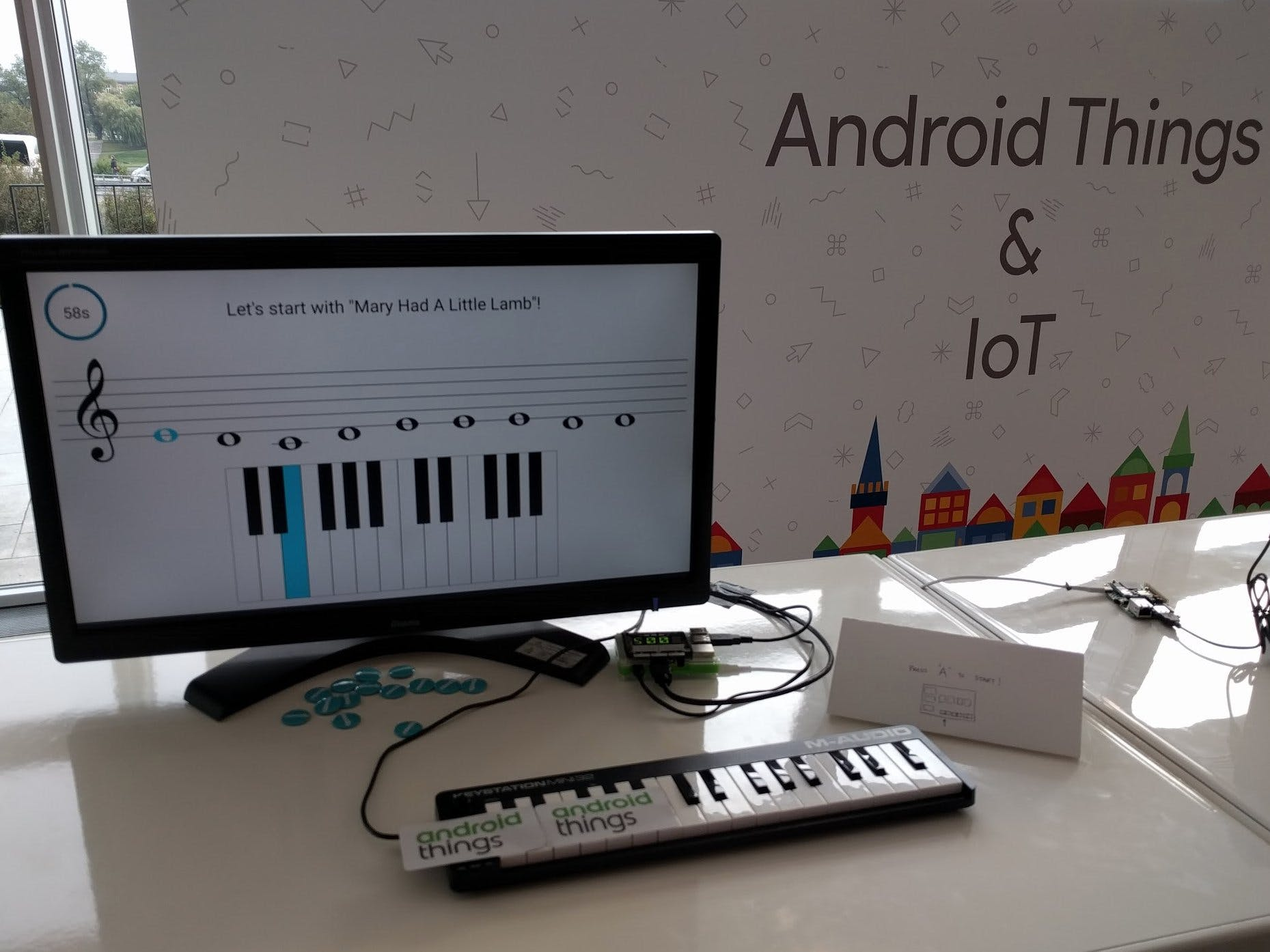 Piano Hero Game Using Android Things