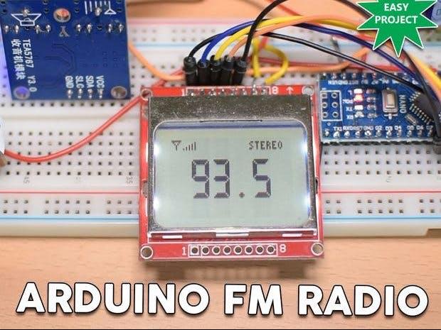 Arduino TEA5767 FM Radio Receiver