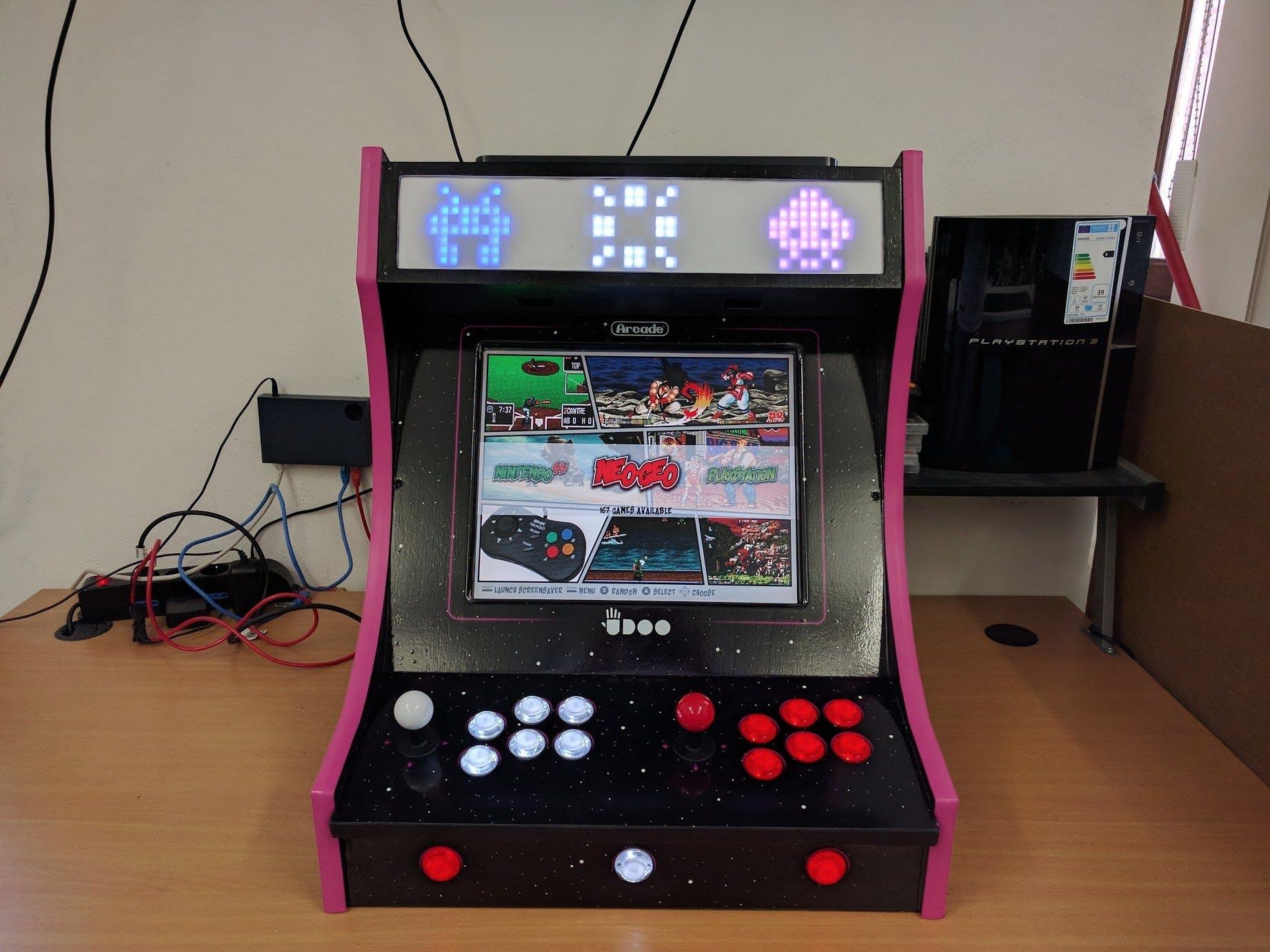 Bartop Arcade Cabinet with UDOO X86