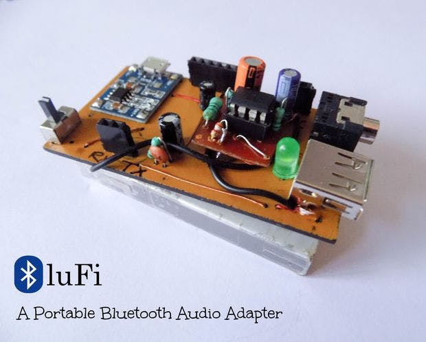 BluFi - A Portable Bluetooth Audio Adapter