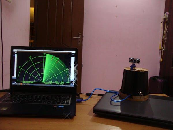 Arduino radar with processing hackster