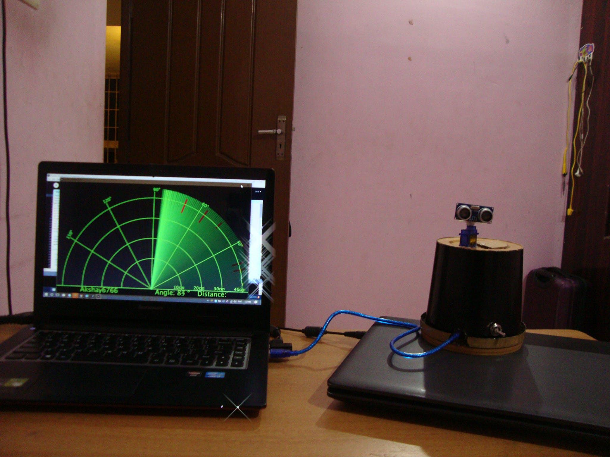 Aurdino Radar With Processing