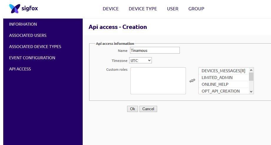 API access creation
