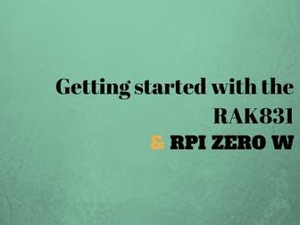 Getting Started with the RAK 831 Lora Gateway on RPi Zero W
