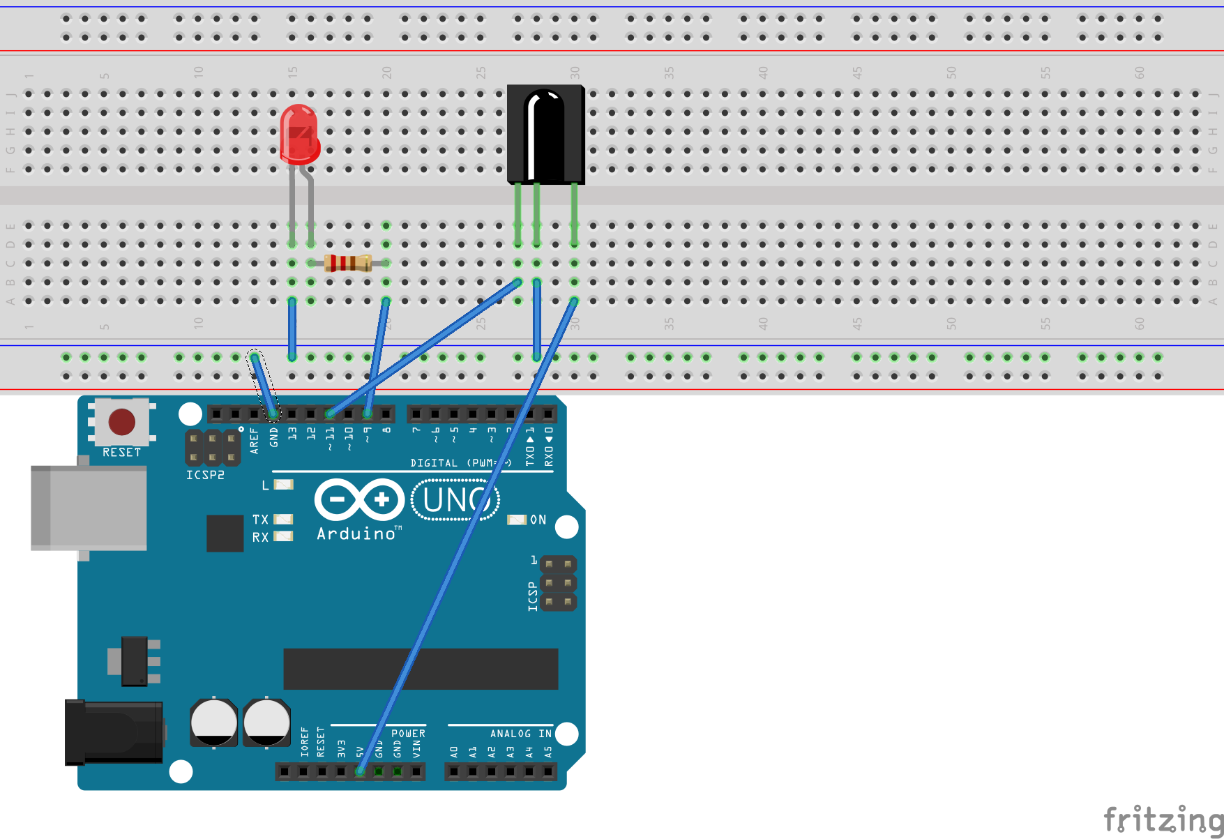 Control An Led With The Remote Arduino Wiring Diagram Maker Circuit