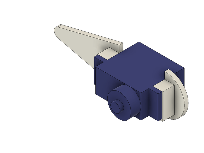 The lower leg (foot) with an attached servo.
