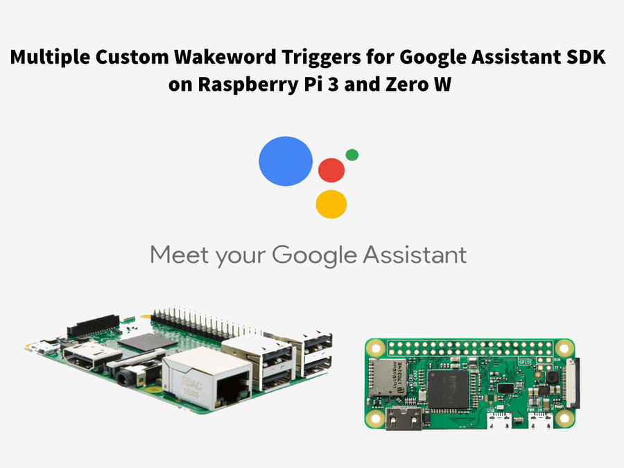 Multiple Custom Wakewords Activation of Google Assistant