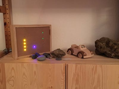 Binary Clock with Arduino and Plywood