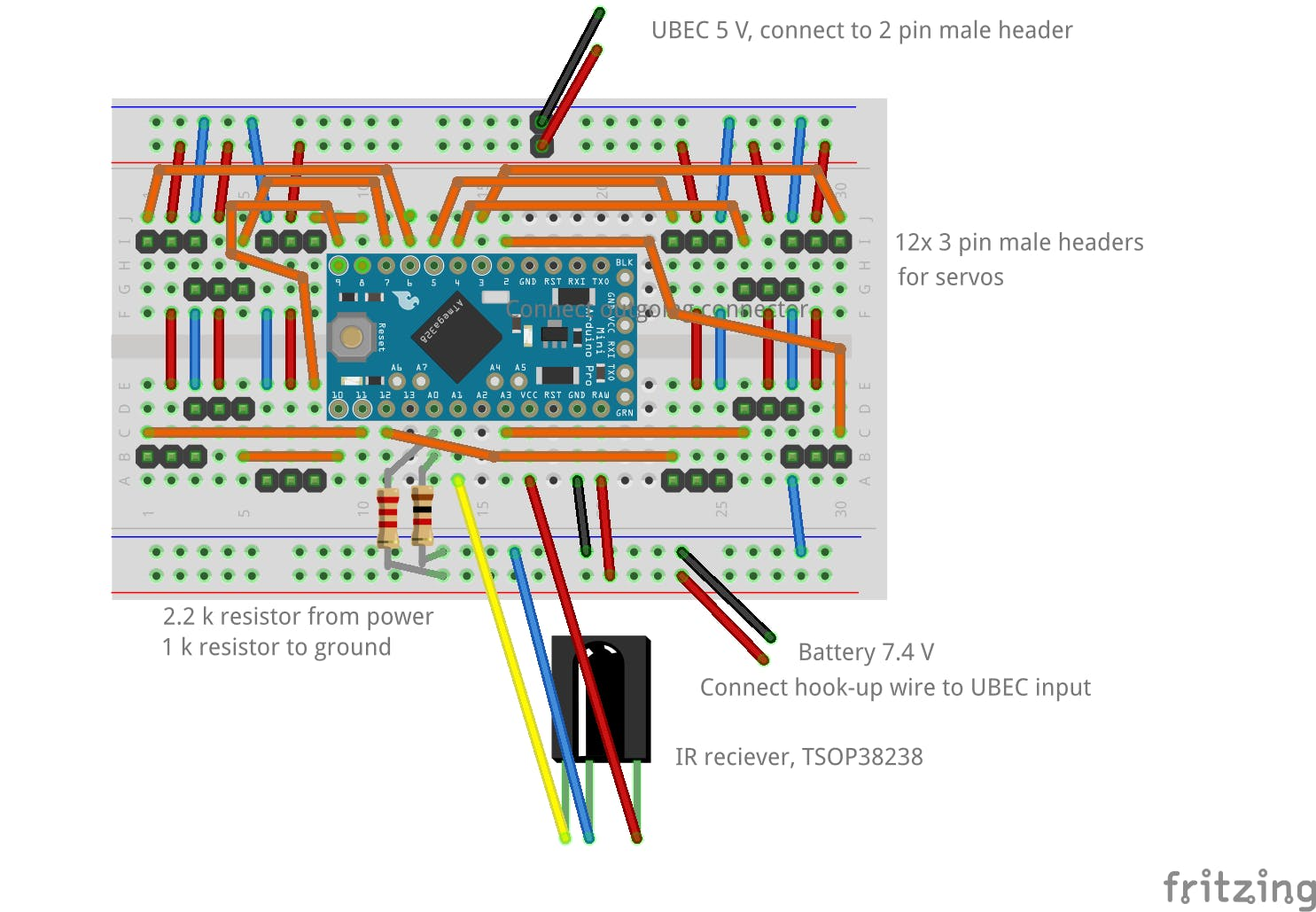 Schematic, breadboard version