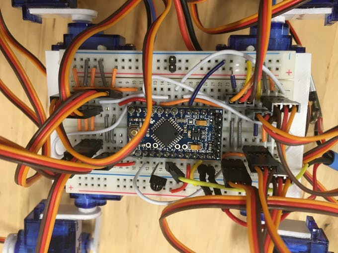 How to hook up on the breadboard. This is from a previous project so the exact layout differ