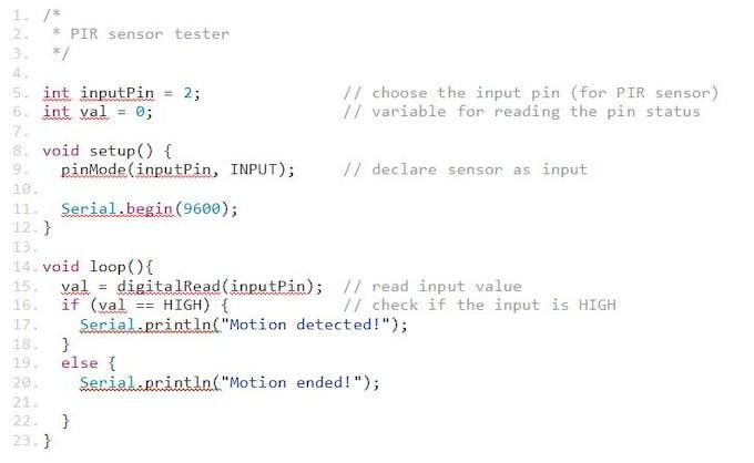 PIR Sample Code