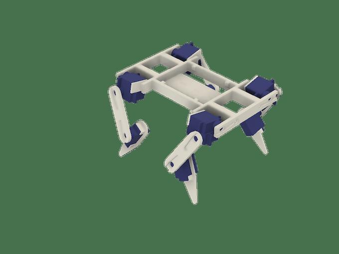 The mechanical parts assembled