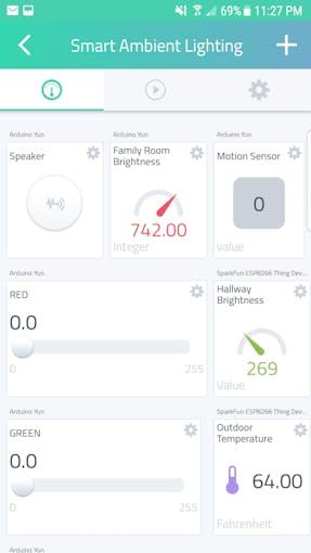 Smart Ambient Lighting on Smartphone