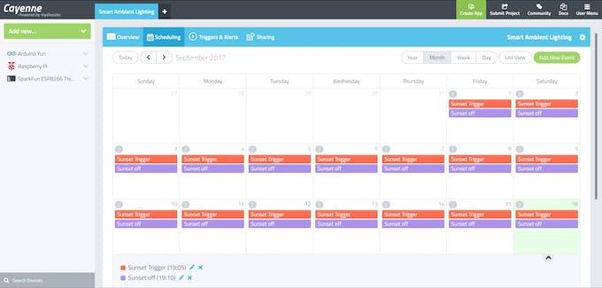 Smart Ambient Lighting Schedule on PC