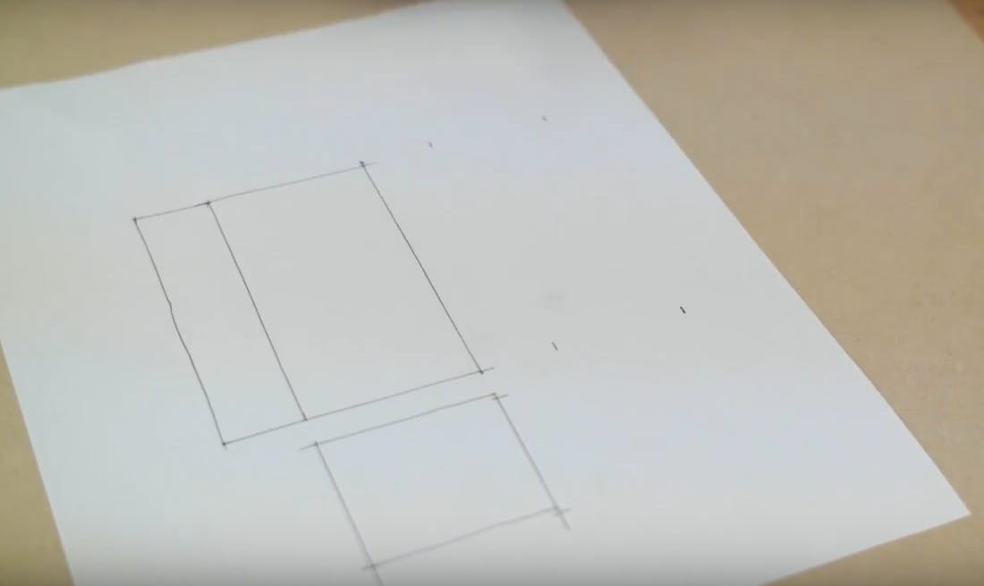 Draw the housing pieces on a paper template