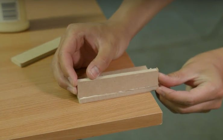 Use wood glue to glue the pieces together