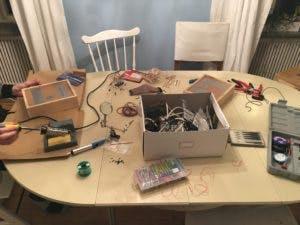 Assembling the binary clock