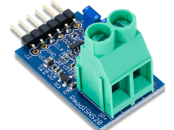 Using the Pmod ISNS20 with Arduino Uno