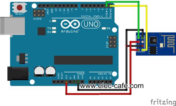 Air meter making use the arduino wi fi module esp