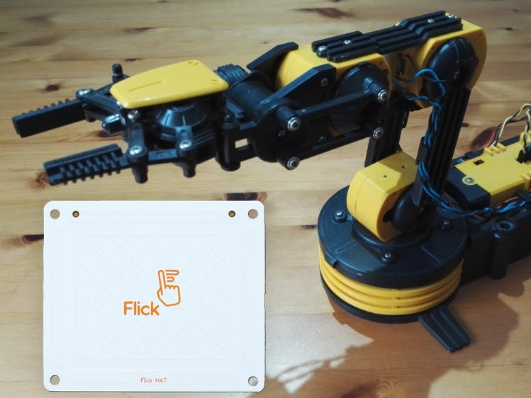 Raspberry Pi as a Robotic Arm Controller with Flick HAT