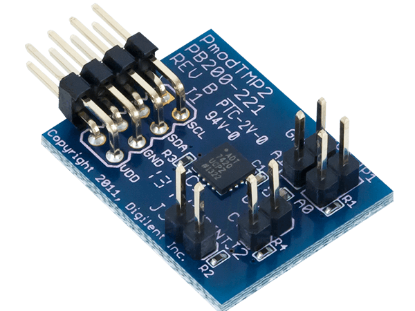 Using the Pmod TMP2 with Arduino Uno