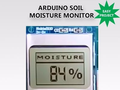 DIY Soil Moisture Monitor With Arduino and a Nokia 5110 D...
