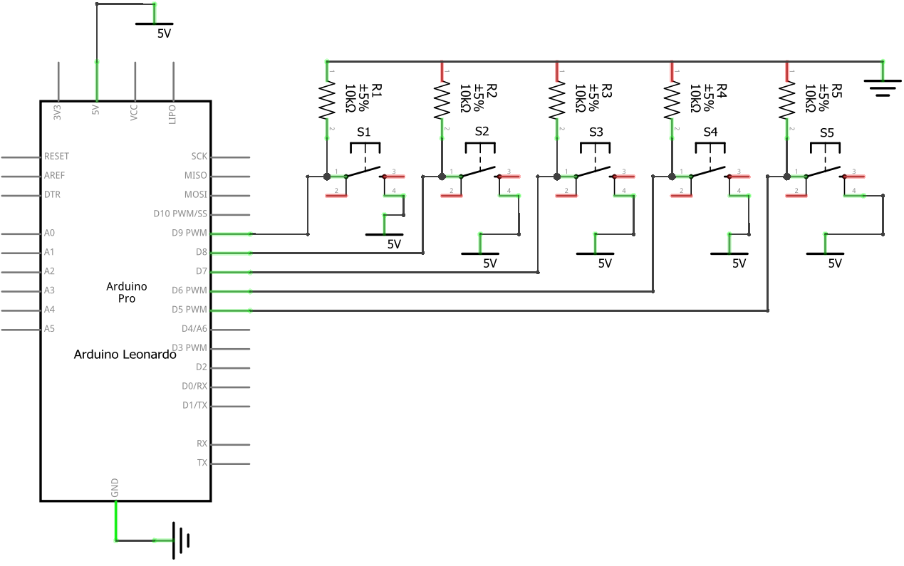 Sentence Hot Key For Writers And Bloggers Using Arduino Circuit Diagram To Breadboard Check Your Connections With This Schematic