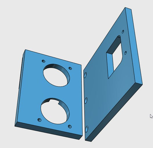 Autodesk 123D design for the breakout board mounts.