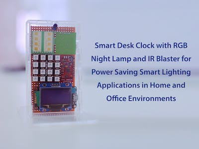 Smart Desk Clock - To Save Power Using IoT at Home & Office
