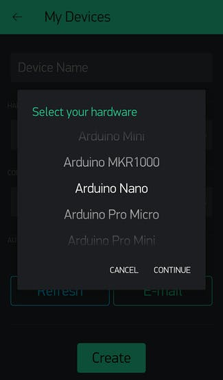 Select your hardware...