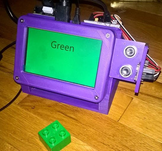 Device reports green with a green Lego block