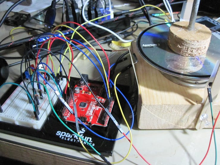 And the Uno Clone begat some LEDs and more reed switches and a rotor, and it was good.