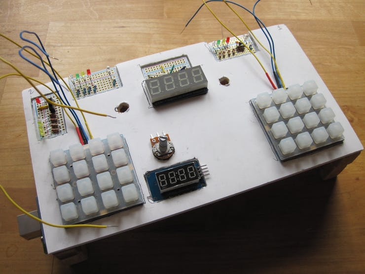 Early stage of control panel assembly