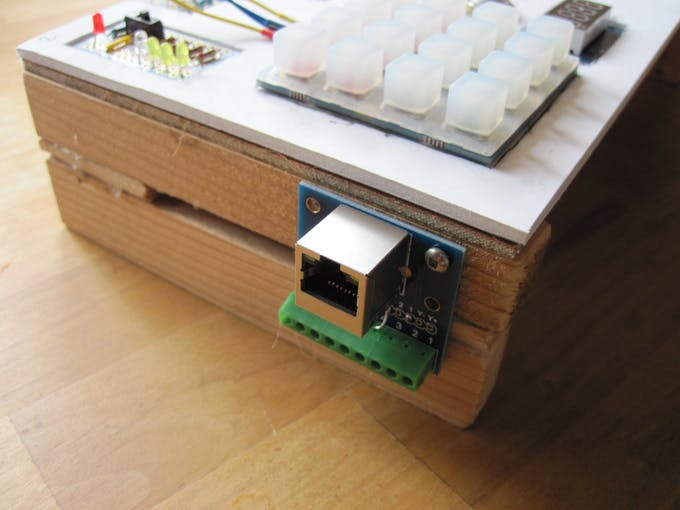 RJ45 for reed switch input