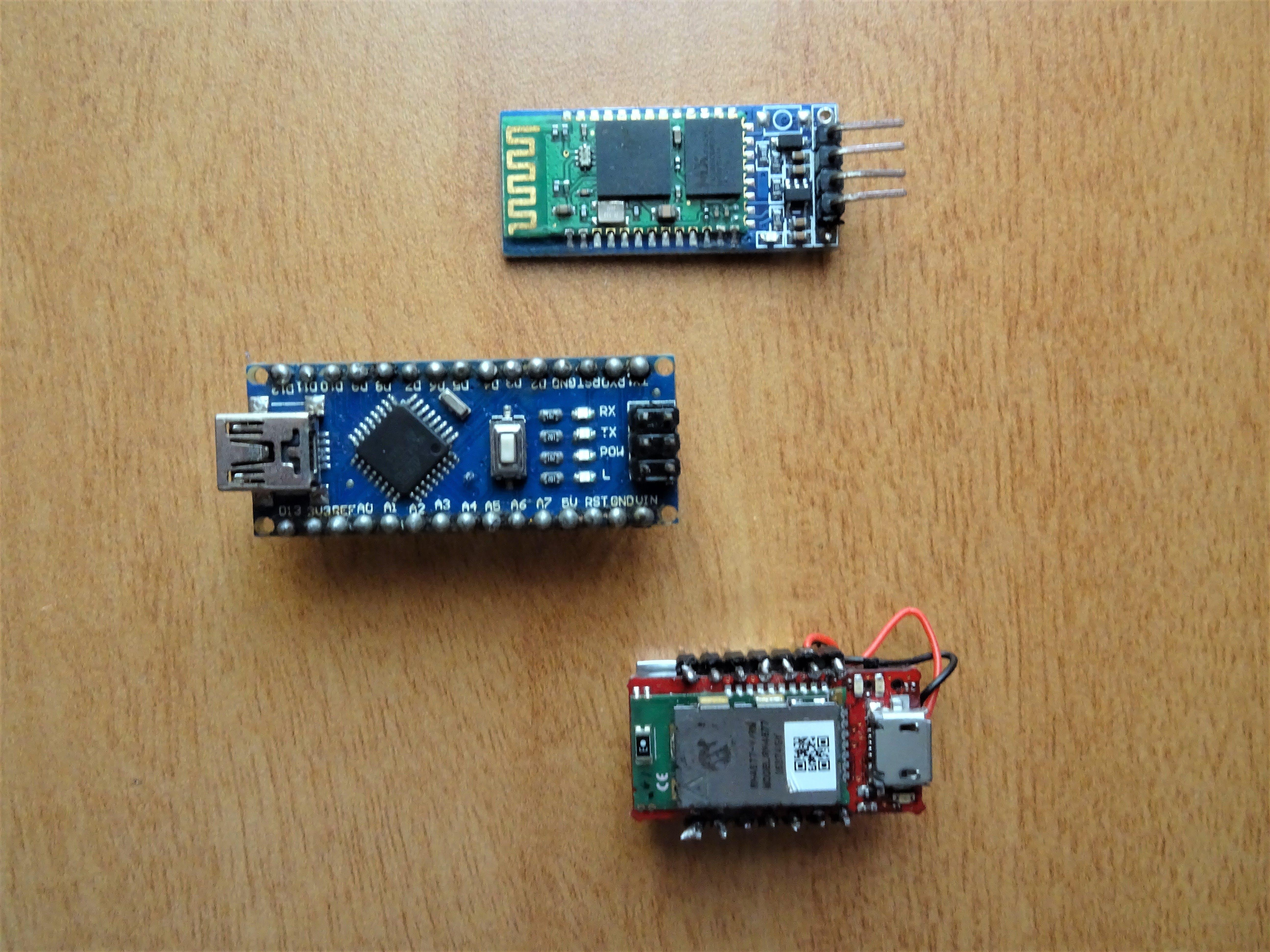 Wifi Module, Arduino NANO and Infineon's Pressure Sensor